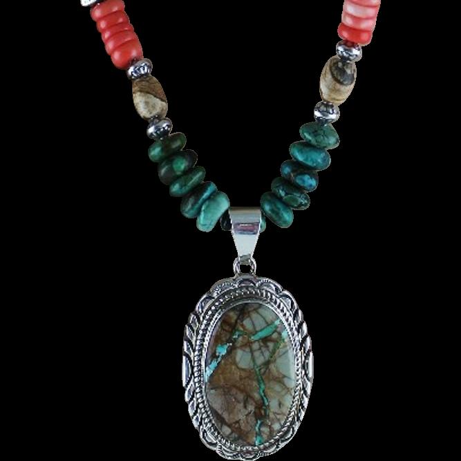 Gorgeous Boulder Turquoise Necklace