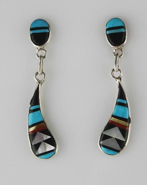Zuni Channel Inlay Earrings