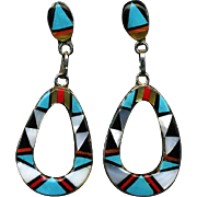 Jazzie Zuni Inlay Dangle Earrings