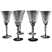 Elegant Libbey Rock Sharpe Water/ Large Wine Glasses