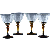 Floral Cut Liquor Cocktail Glasses