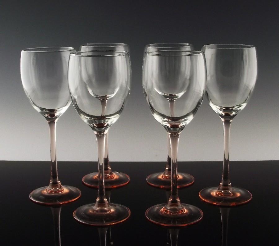 Rose Claret Wine Glasses Made in France