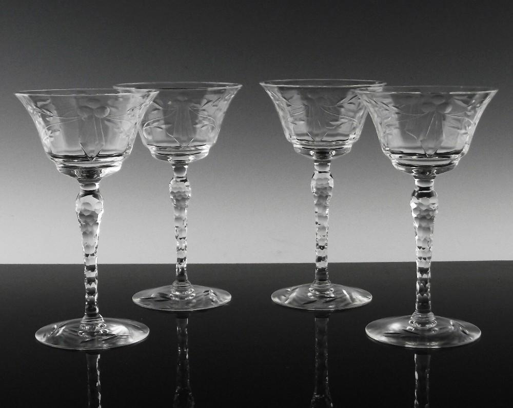 Elegant Floral Liquor Cocktail Wine Glasses