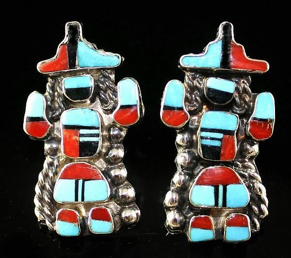 Full Kachina Zuni Earrings