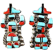 Full Kachina Zuni Earrings