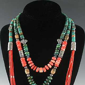 White Fox Creation: Eclectic Turquoise and Coral Collection