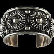 Navajo Sterling Silver Bracelet by Thomas Charley