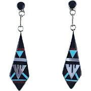 Zuni Inlay Earrings