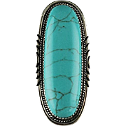 Navajo Sterling and Cripple Creek Turquoise Ring