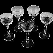 Stunning Crystal Wine Hocks