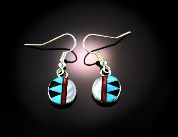 Zuni Inlay Earrings