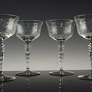 Elegant Libbey Rock Sharpe Champagne/ Champagne Wine Glasses