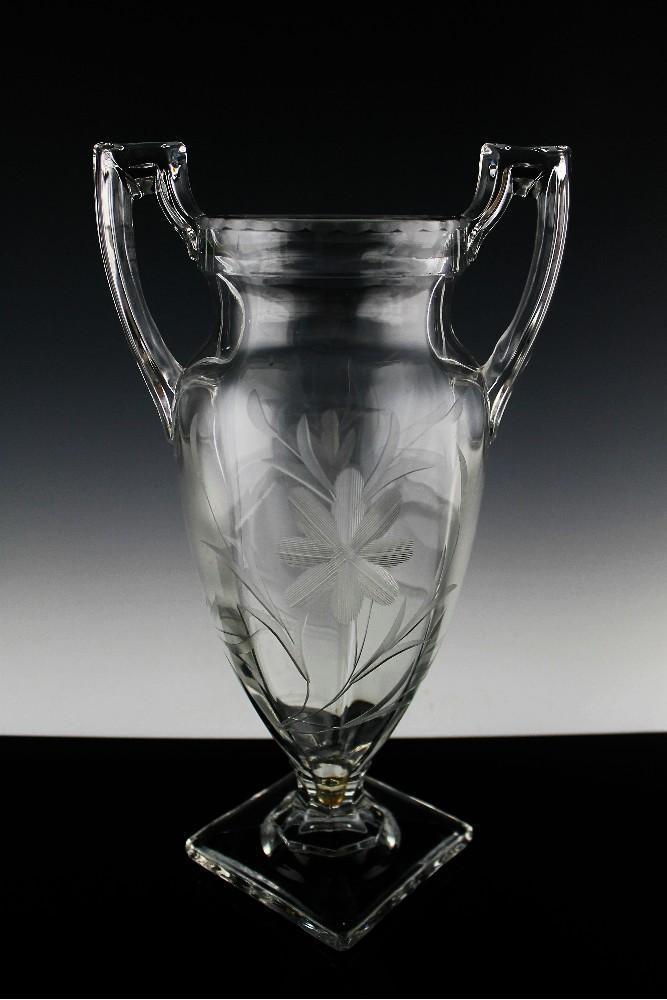 Art Deco Trophy Vase by Tiffin Glass ca 1927-35