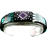 Spectacular Inlay Bracelet by Renowned Navajo Artist Ray Jack