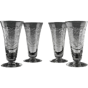 Libbey Rock Sharpe Parfait Glasses ca 1940's