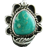 Navajo Made Windy Ridge Turquoise Ring