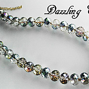 Outstanding Micro Faceted Crystal Necklace