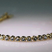 AAA Quality Blue Topaz Gemstone and Gold Vermeil Bracelet