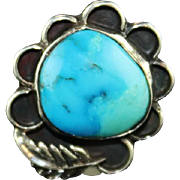 Ocean Mist Navajo Turquoise and Sterling Ring