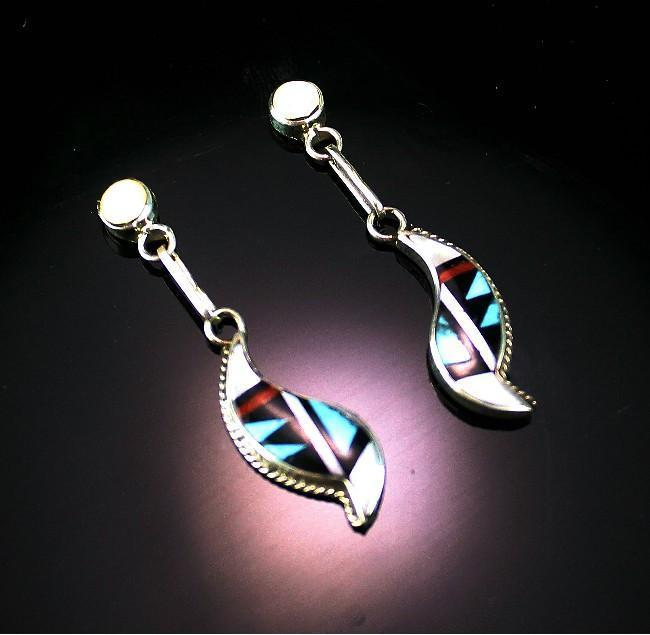 Zuni Multi-Stone Inlay Earrings