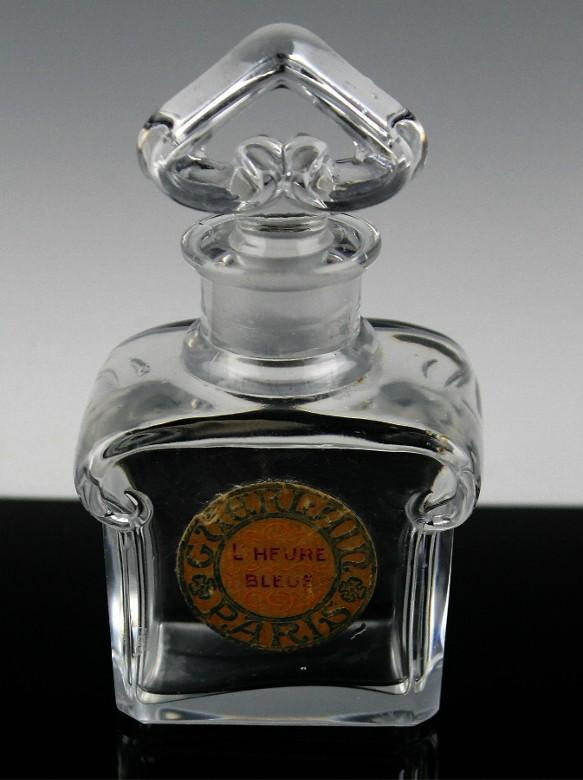 Guerlain L'Heure Bleue Perfume Bottle by Baccarat ca 1912