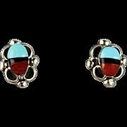 Zuni Inlay Post Earrings
