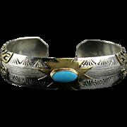 Navajo 12GF Over Sterling Bracelet