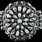 Sterling and White Buffalo Bracelet