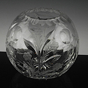 Large Crystal Rose Bowl