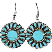 Navajo Artist Leander Nezzie Petit-Point Earrings