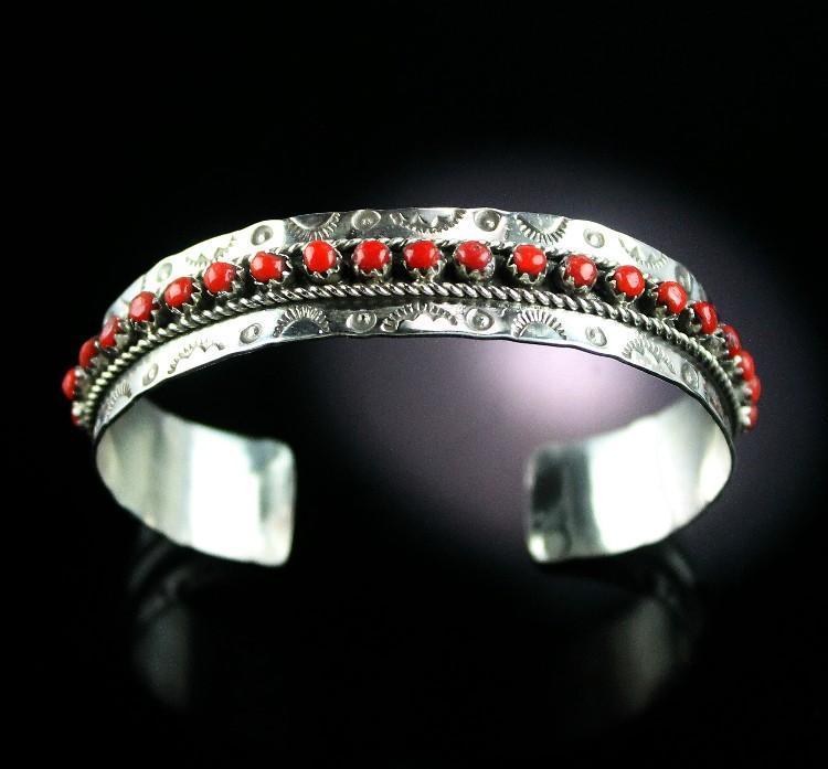 Rare Zuni Coral JP Ukestine Bracelet