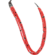 Another White Fox Creation: 3 Strand Coral Necklace