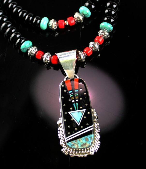 White Fox Collection of Turquoise and Coral Necklaces