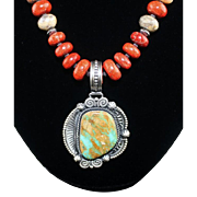 White Fox Creation: Beautiful Royston Turquoise Necklace and Pendant