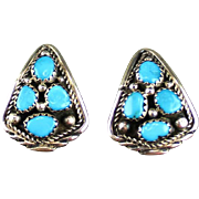 Native American Sterling and Turquoise Earrings