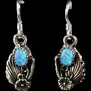 Navajo Sterling and Opalite Earrings