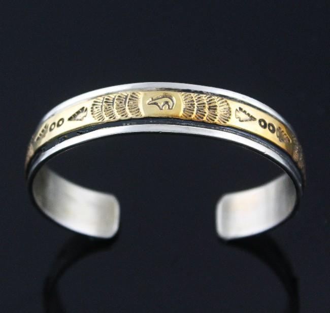 12k Gold Fill over Sterling Stamped Bracelet