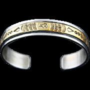 12k Gold Fill over Sterling Stamped Bracelet