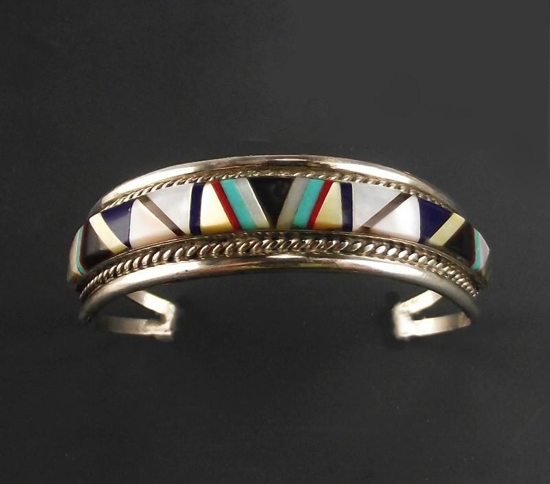 Zuni Multi-Stone Inlay Bracelet