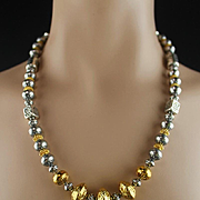 Southwest Sterling and Gold Vermeil Necklace