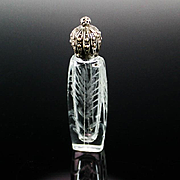 La Castillere French Etched Perfume Bottle ca 1920's