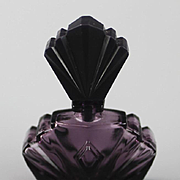 Miniature Amethyst Perfume Bottle ca 1980's