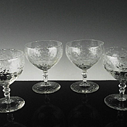 Elegant Creamy Cocktail Glasses by Libbey Rock Sharpe ca 1936