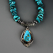 Kingman Nugget Necklace with Roie Jaque Pendent