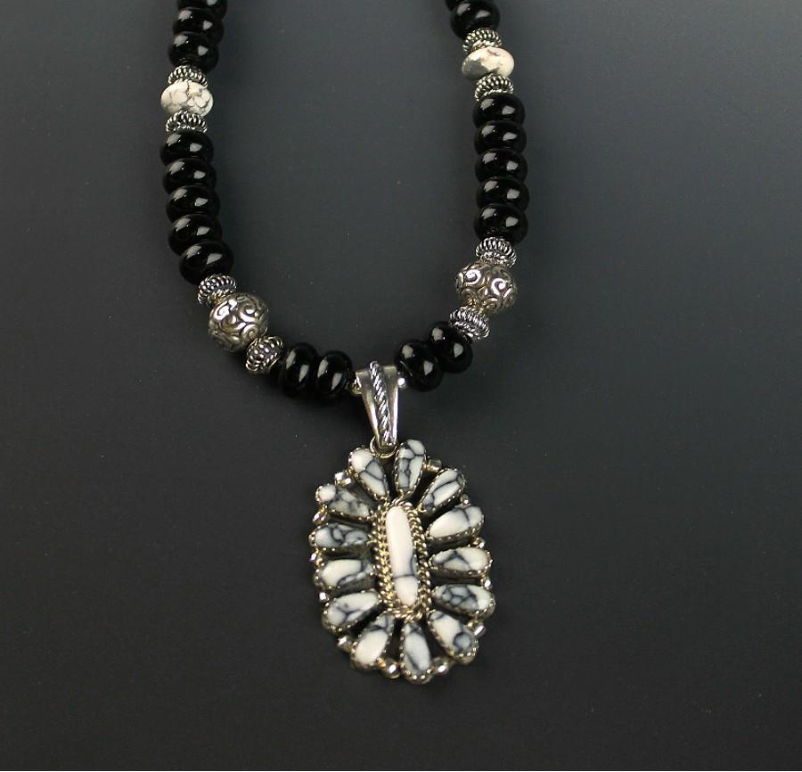 White Fox Creation: White Buffalo Pendant Necklace