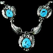 Native American Squaw Necklace Set by Navajo Artist Elsie Yazzie