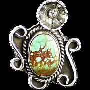 Navajo Royston Turquoise Blossom Ring