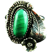 Navajo Malachite Ring
