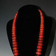 White Fox Creation: Spectacular Coral Necklace