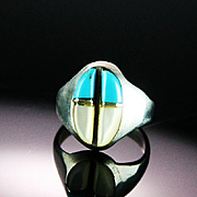 Sterling and Turquoise Inlay Ring